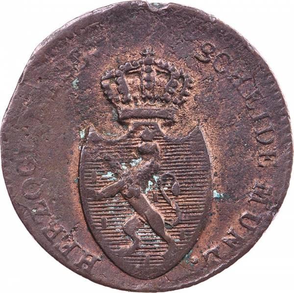 1 Kreuzer Nassau Friedrich August und Friedrich Wilhelm 1808