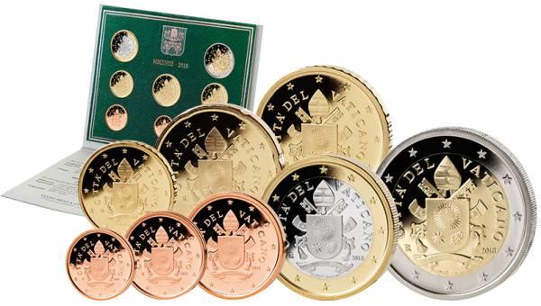 Euro-Kursmünzensatz Vatikan 2018 Ersttags-Edition
