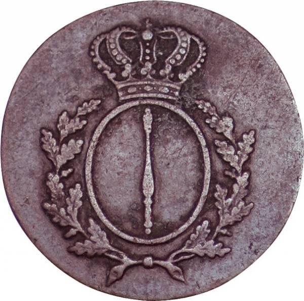 1 Pfennig Preußen König Friedrich Wilhelm III. Zepterpfennig 1810-1816 Sehr schön