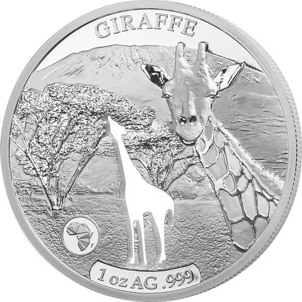 250 Francs Dschibuti Giraffe 2018