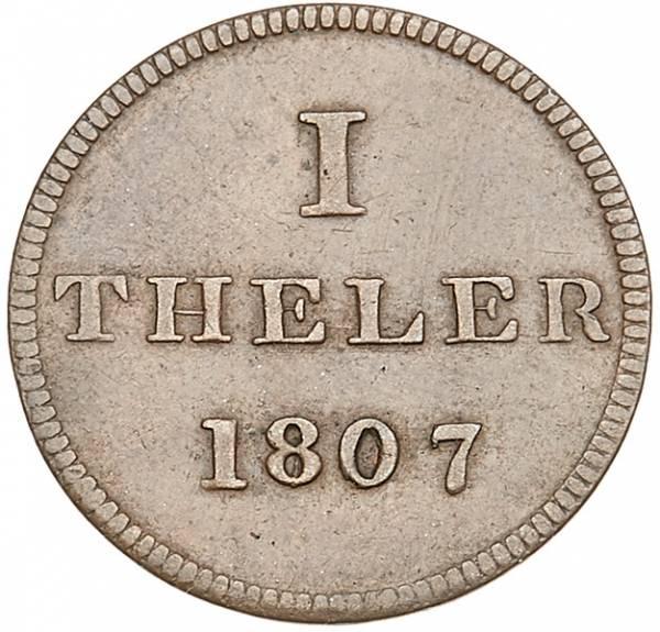 1 Theler Frankfurt Judenpfennig 1807