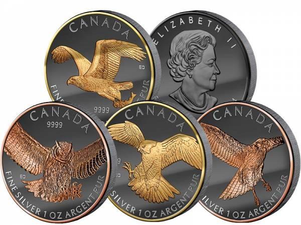4 x 1 Unze Kanada Brids of Prey Golden Enigma 2014-2015