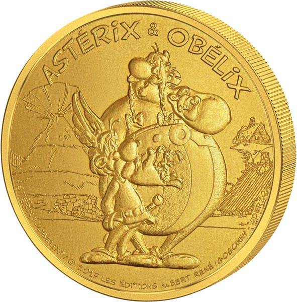Gedenkprägung Asterix & Obelix