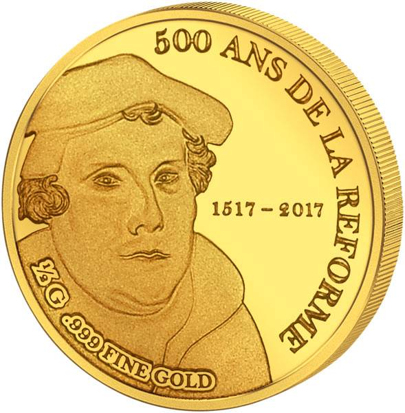 1.000 Francs Guinea Martin Luther 2017