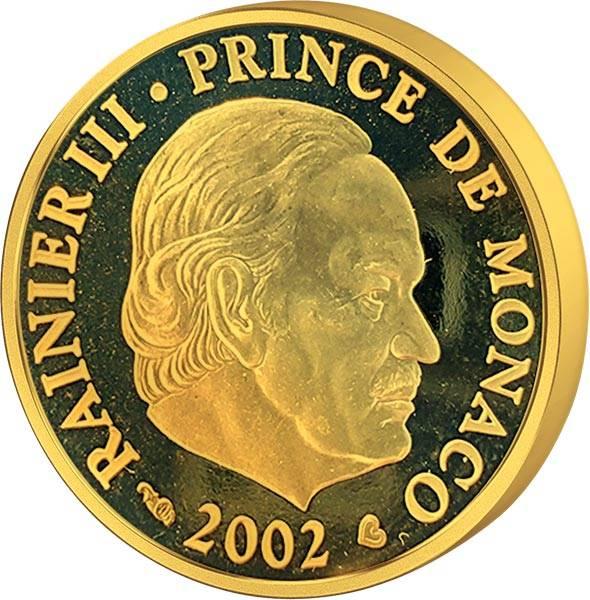 20 Euro Monaco Fürst Rainier III. 2002