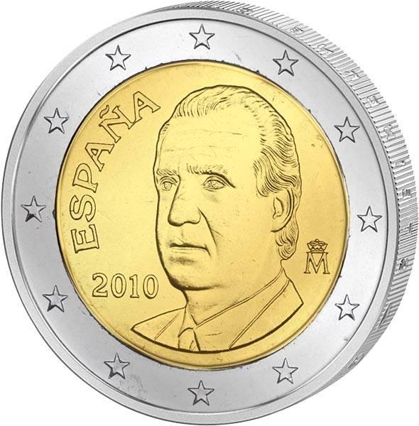 2 Euro Spanien Juan Carlos I. 2010