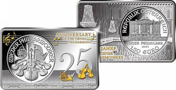 3 Unzen Österreich Jubiläums-Ausgabe 25 Jahre Wiener Philharmoniker 2014