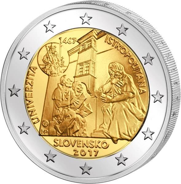 2 Euro Slowakei 550 Jahre Universität Istroplitana