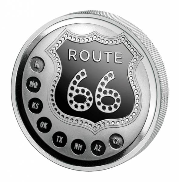 1 Unze Gedenkprägung Route 66