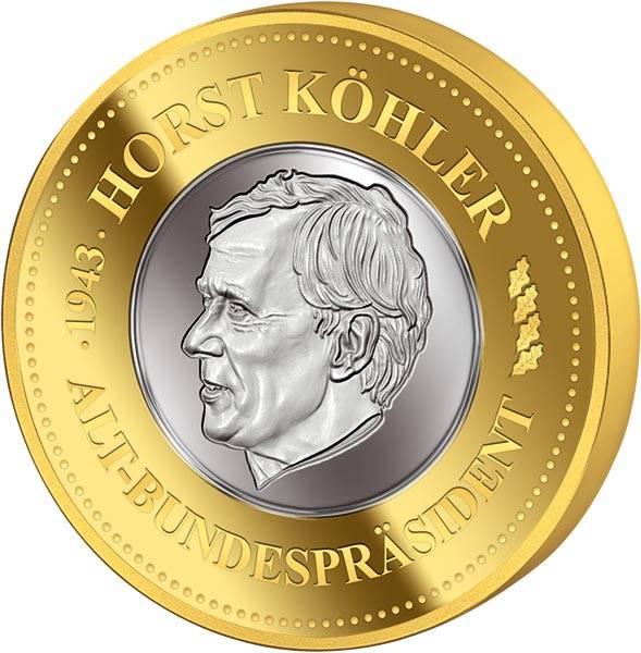 Gedenkprägung Horst Köhler