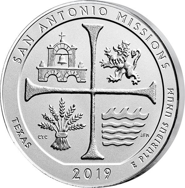 5 Unzen Silber USA Texas San Antonio National Historical Park 2019