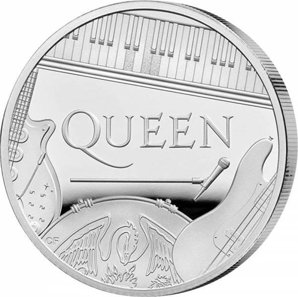 1 Pound Großbritannien Queen Musiklegenden 2020