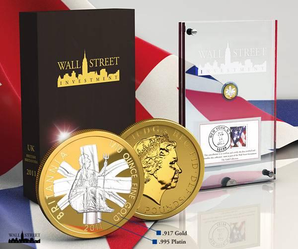 1/10 Unze Wall Street Investment Britannia 2011 Polierte Platte