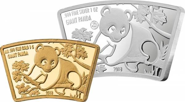 1 Dollar + 5 Dollars Fidschi Fan Shape Panda 2018