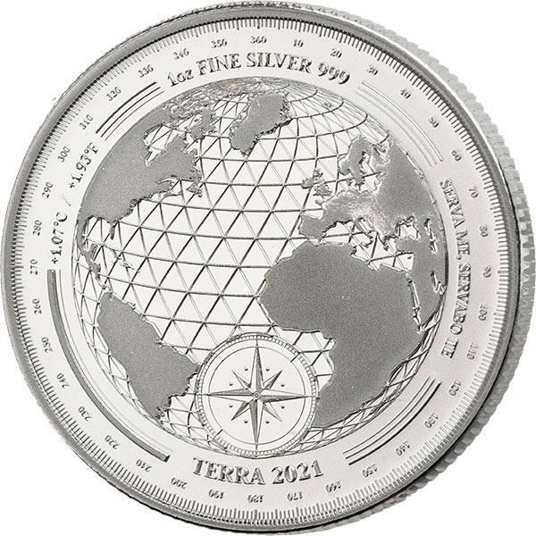 1 Unze Silber Tokelau Planet Erde 2021