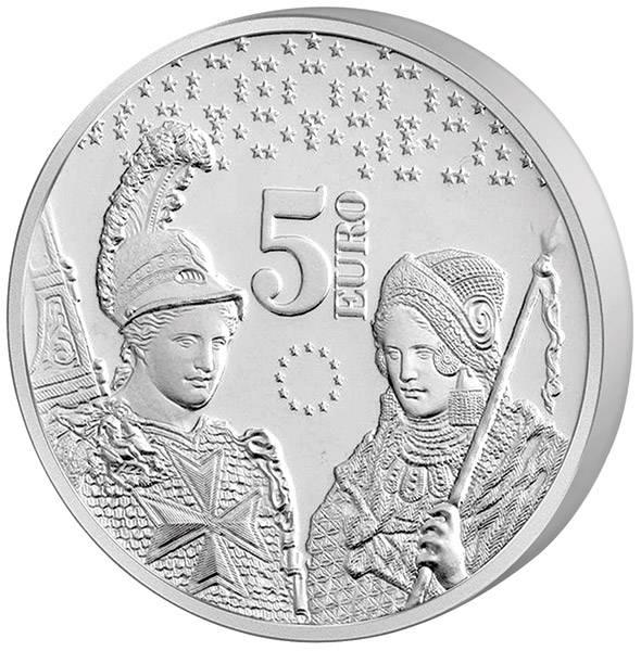 5 Euro Malta 10 Jahre Euro 2018