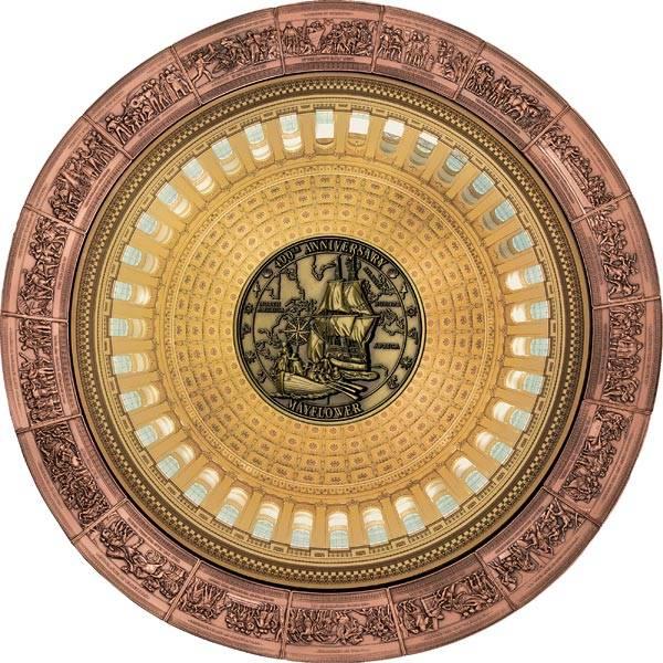 Gedenkprägung Mayflower + 18 x 1/2 Dollars Salomonen US-Capitol 2020