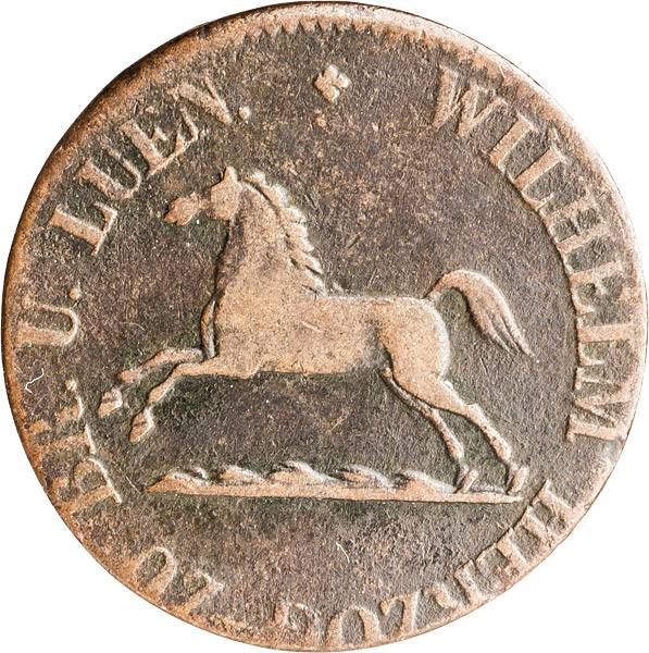 1 Pfennig Herzogtum Braunschweig Herzog Wilhelm 1831-1834