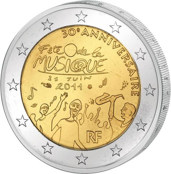 2 Euro Frankreich 30 Jahre Fête de la Musique 2011 prägefrisch