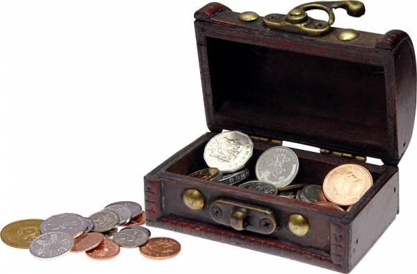 Schatzkiste 50 Münzen aus 50 Ländern