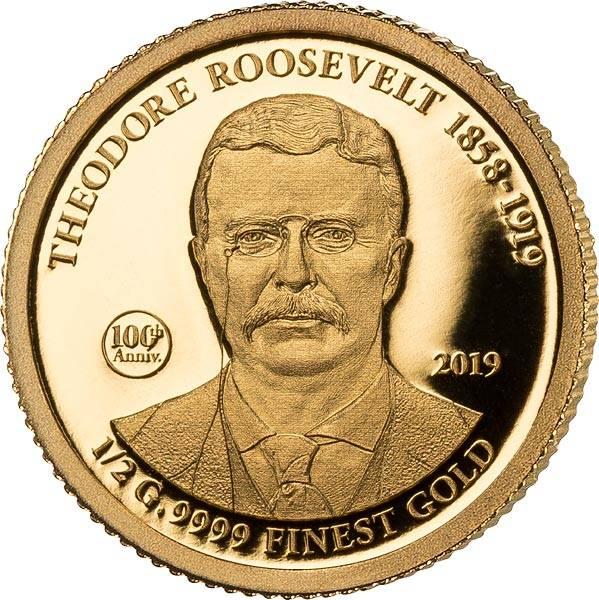 5 Dollars Cook-Inseln 100. Geburtstag von Theodore Roosevelt 2019