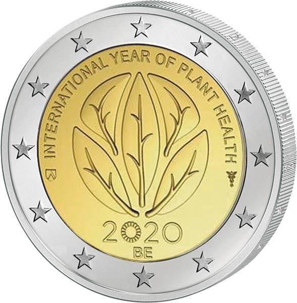 2 Euro Belgien Internationales Jahr der Pflanzengesundheit 2020
