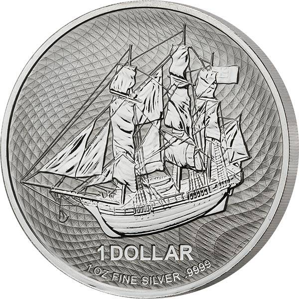 1 Unze Silber Cook-Inseln Bounty 2021
