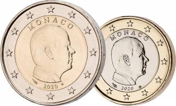 1 + 2 Euro Monaco Fürst Albert II. 2020