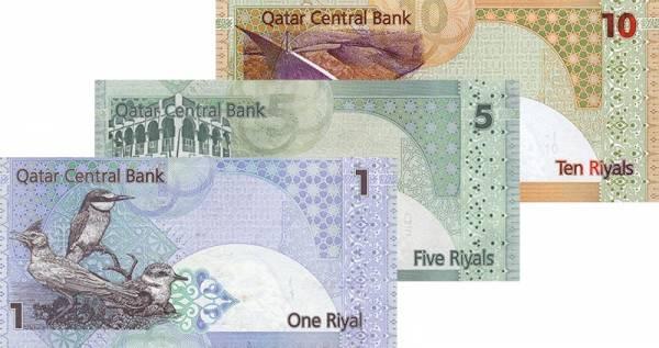 3er Set Banknoten Katar 2003 - 2008