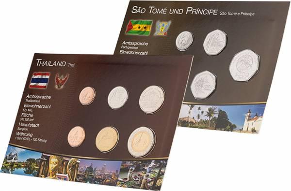 Premium-Kursmünzen-Set Thailand und St. Thomas & Prince