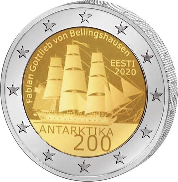 2 Euro Estland 200. Jahrestag der Entdeckung der Antarktis 2020
