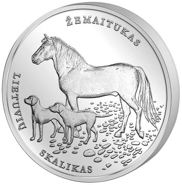 1,5 Euro Litauen Litauische Natur Hund und Pferd 2017