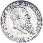 2 Mark Sachsen-Meining Georg II. 1901 Vorzüglich