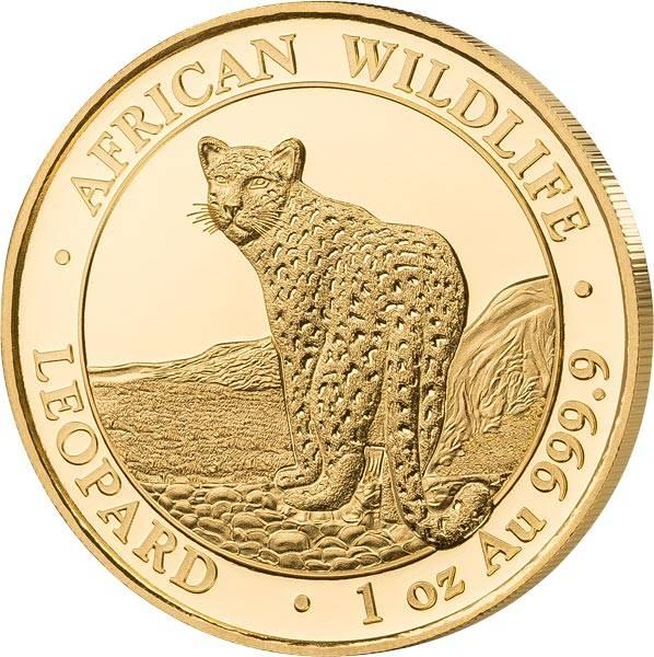 1 Unze Somalia Leopard 2018