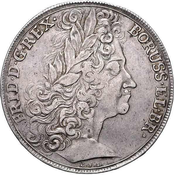 Reichstaler Brandenburg-Preußen König Friedrich I.