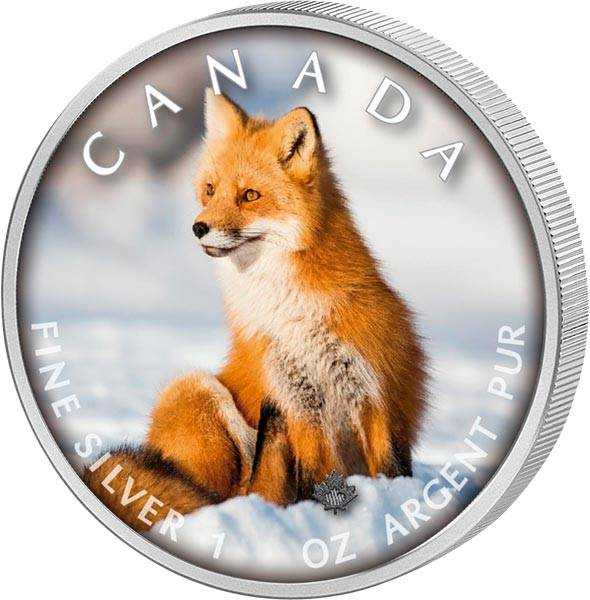 5 Dollars Kanada Trails of Wildlife Rotfuchs 2019