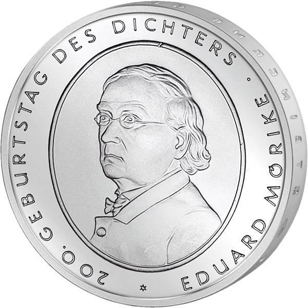 10 Euro BRD 200. Geburstag von Eduard Mörike 2004