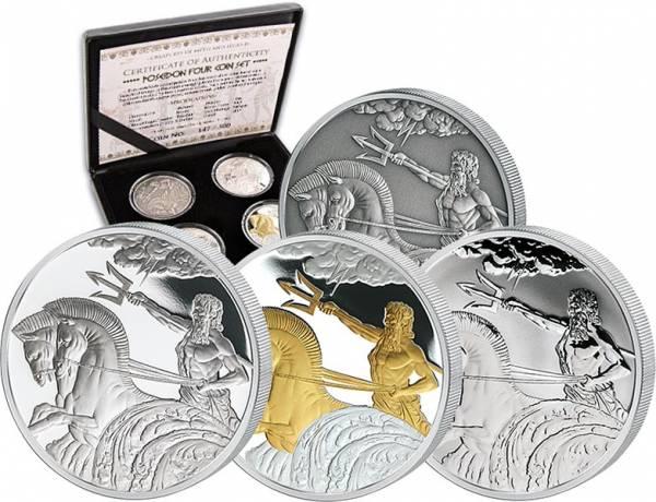 4 x 5 Dollars Tokelau Poseidon 2017