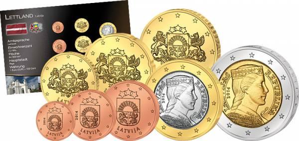 Premium-Euro-Kursmünzensatz Lettland 2014 prägefrisch