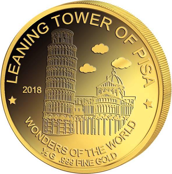 100 Francs Niger Schiefer Turm von Pisa 2018