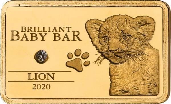 5 Dollars Niue Brilliant Baby Bar Löwe 2020