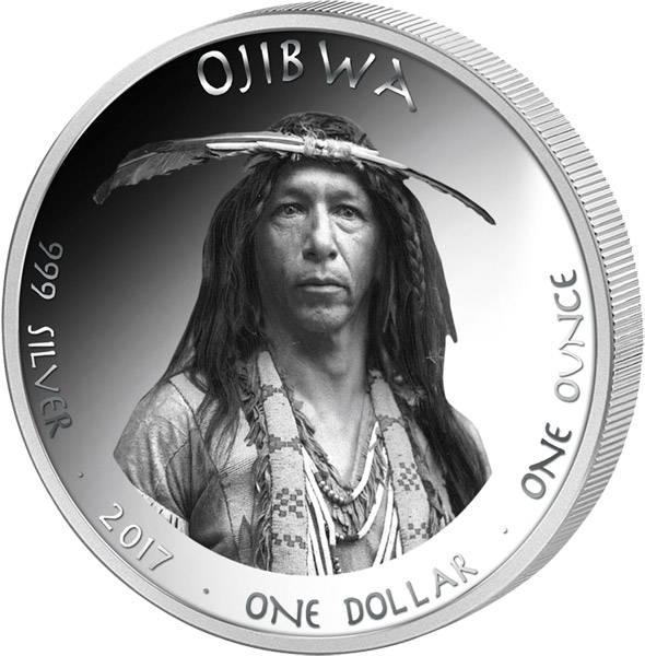 1 Dollar USA Native State Dollar Ojibwa Schwan Michigan 2017