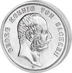 2 Silber Mark Georg Fürst zu Schaumburg-Lippe 1903-1904 Sehr schön