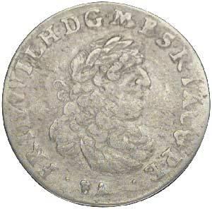 6 Gröscher Brandenburg-Preußen Kurfürst Friedrich Wilhelm 1674-1689 Sehr schön