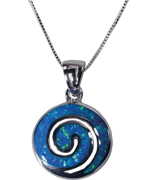 Sonnekette mit blauem Opal
