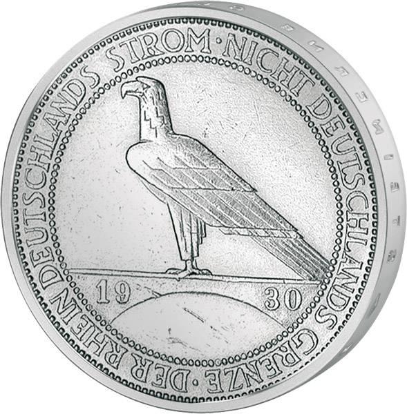 3 Reichsmark Weimarer Republik Rheinlandräumung 1930 ss-vz