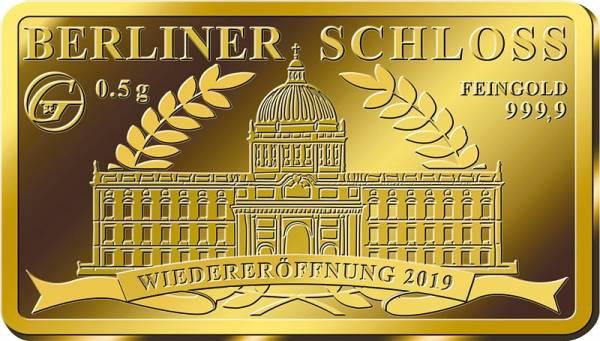 0,5 Gramm Goldbarren Wiedereröffnung Berliner Schloss 2019