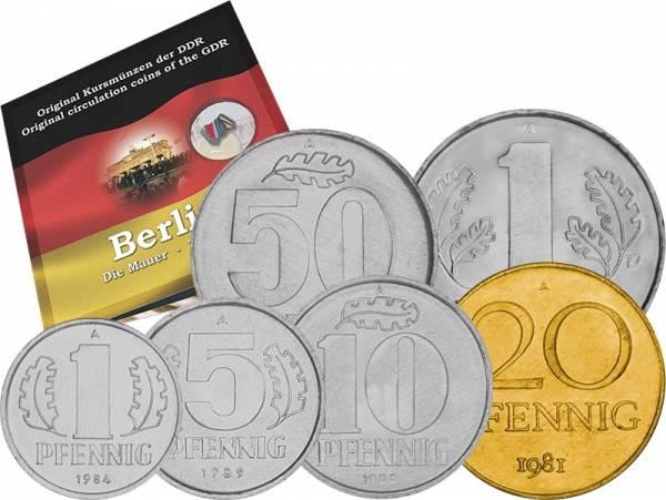 1 Pfennig - 1 Mark Jubiläumssatz DDR Fall der Berliner Mauer 1960-1990