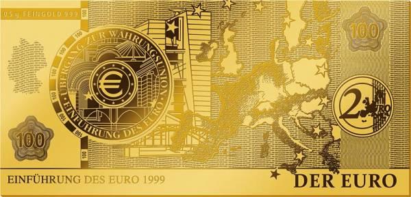 Goldnote Einführung des Euro