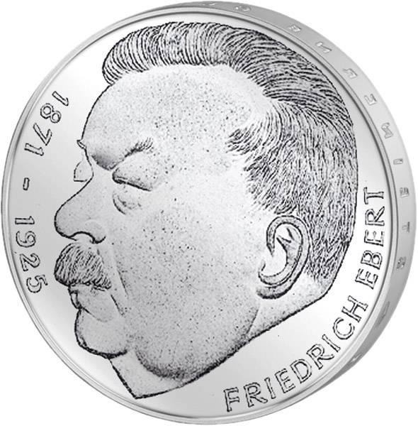 5 DM Münze BRD 50. Todestag Friedrich Ebert